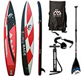AQUA MARINA RACE SUP Stand Up Paddle Surfboard Carbon Fiberglass Paddel Leash