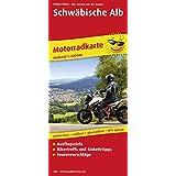 Schwäbische Alb: Motorradkarte mit Tourenvorschlägen, Ausflugszielen, Biker- & Einkehrtipps, reissfest, wetterfest, abwischbar, GPS-genau. 1:200000