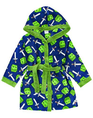 Vanilla Underground Minecraft All Over Creeper Boys Bathrobe Kids Dressing Gown Night Robe