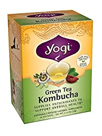 Yogi Teas Kombucha Green Tea, 16 Count (Pack of 6)