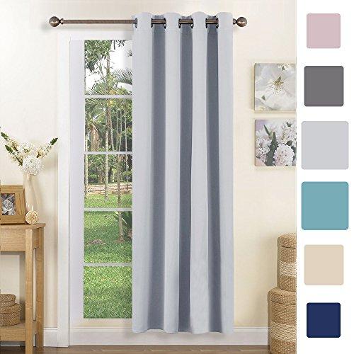 Blickdichter Vorhang mit Ösen - PONY DANCE 180 x 140 cm (H x B), Grau-weiß 1 Stück Monochrome Vorhänge, Minimalistischer Stil, Beschattung Isolierung, Geeignet für Schlafzimmer, Wohnzimmer (Ein Panel-grau-vorhänge)