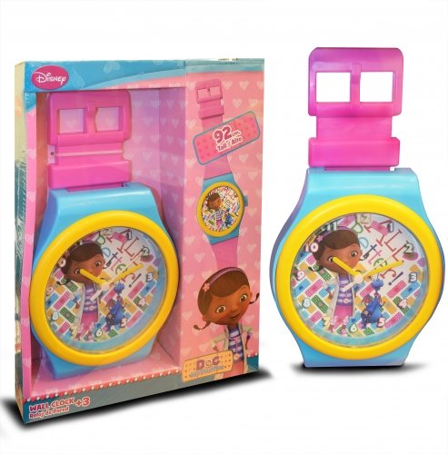 s Pink & Turquoise Jumbo Wristwatch Wall Clock 92cm ()