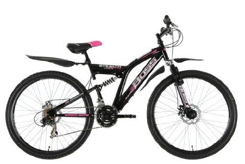 BOSS Stealth pour femme à double suspension pour vélo-Noir/Rose, 66cm