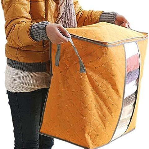 Sac de rangement, Mml® Large Vêtements Parure de lit à fermeture Éclair oreillers non tissé Sac de rangement Orange