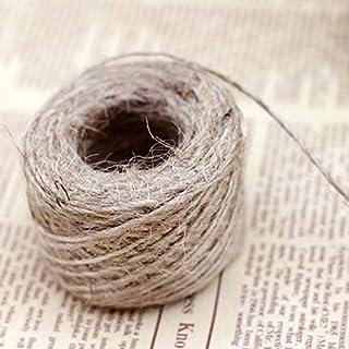 Jute Twine Natural Thick Jute String 2mm Crafts DIY Gift Twine Hemp Rope for Wedding Card DIY Craft Garden 50m 1PCS