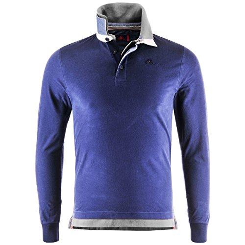 Polo Shirts - Telsen - Blue Md-Grey Lt Mel - L
