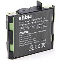 vhbw NiMH Batterie 2000mAh (4.8V) pour stimulateur musculaire Compex Performance Mi-Ready, Runner, SP 2.0, SP 4.0, Sport Elite, Vitality
