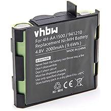 vhbw NiMH Akku 2000mAh (4.8V) für Muskel Stimulator Compex Edge US, Enegry, Enegry Mi-Ready, Energy, Energy Mi-ready, Fit wie 4H-AA1500, 941210