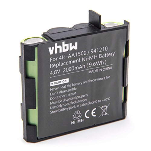 vhbw NiMH batería 2000mAh 4.8V para tecnología médica como estimulador muscular Compex Edge US, Enegry, Enegry Mi-Ready, Energy, Energy Mi-ready, Fit