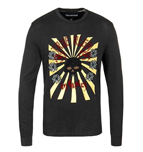 True Religion Black Rising Sun Graphic T-Shirt-Medium