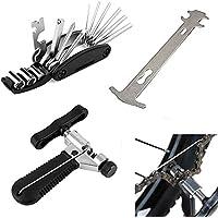 Exclusky Kit de reparación de Bicicletas MTB VTC Herramienta 16 en 1 Indicador Cadena Desmontaje Cadena