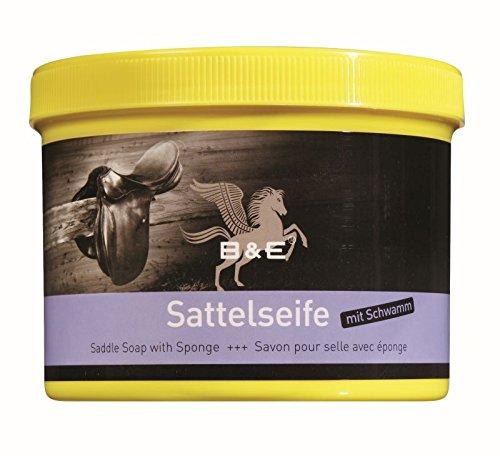 B & E Sattelseife mit Schwamm - 500 ml (Leder Stiefel Tasche)