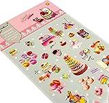 5 feuilles de bricolage autocollants décoratifs Craft Scrapbook Stickers Macaron