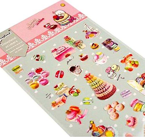[Macaron] 5 Blätter DIY dekorative Aufkleber Handwerk Scrapbooking Aufkleber