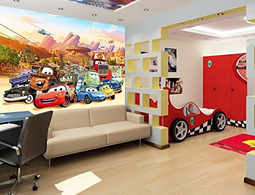 Preisvergleich Produktbild Kinder Fototapete - Poster CARS-AUTOS Kinderzimmer Wandbild, Bordüre, Tatoo, Sticker (170x120cm 2-Teilig)