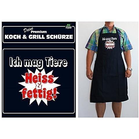Parrilla Delantales Delantales Chef en Gastronomía Calidad para hombres Diciendo: delantal cita divertida - Delantal De Cocina 13087