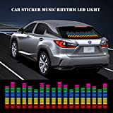OurLeeme Car Sticker Musik Rhythmus Flash LED Light Lamp Sound hat Equalizer (90 * 25 cm/35.4 * 9.8