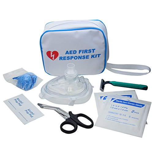 WAP Emergency resuscitation Equipment CPR/AED Fast Response Kit in White Nylon Bag