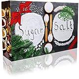 C&T Sugar & Spice Gewürze Adventskalender 2018 - Geschenkidee mit 24 edlen Gewürzssalzen und 6 Gewürzzuckern - Weihnachtskalender Zucker Salz