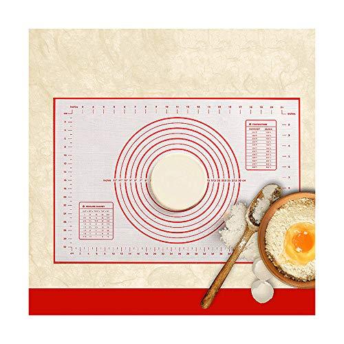 Stuoia di cottura in silicone di semai impastatrice di torte per pizza e pizza pasticciera da cucina accessori per pasticceria, 300x400mm rossi