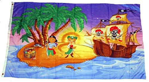 Flagge Fahne Piraten Schiff Schatzinsel Kinder 90x150 cm F 4182