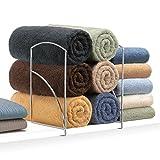 Lynk Tall Shelf Dividers - Closet Shelf Organizer - Chrome