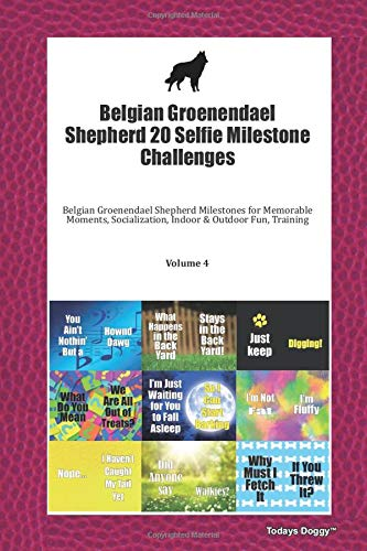 Belgian Groenendael Shepherd 20 Selfie Milestone Challenges: Belgian Groenendael Shepherd Milestones for Memorable Moments, Socialization, Indoor & Outdoor Fun, Training Volume 4