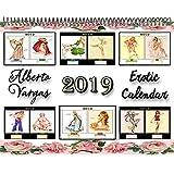 Calendario 201912mesi (due mesi per pagina) con 12colori Vargas ragazze sexy seducente erotica...