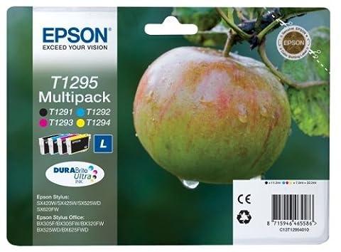 Epson Original T1295 Tinte Apfel, wisch- und wasserfeste (Multipack, 4-farbig)