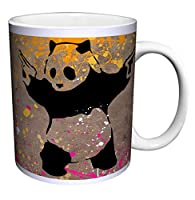 Banksy Panda Guns Decorative Graffiti Urban Animal Art Ceramic Gift Coffee (Tea, Cocoa) 11 Oz. Mug