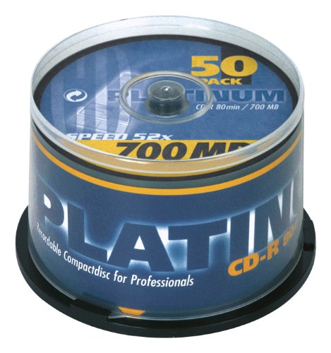 Platinum CD-R 700 MB CD-Rohlinge (52x Speed, 80 Min) 50er Spindel Test