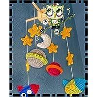 MÓBIL PARA BEBÉS GANCHILLO AMIGURUMI PLANETAS PERSONALIZABLE ( Bebé, crochet, ganchillo, muñeco, peluche, niño, niña, lana )