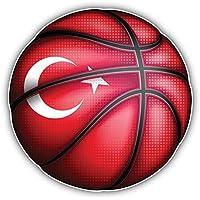 Bandiera Turchia Basket mondo art decor adesivo 12x 12cm