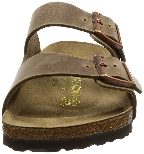 Birkenstock Arizona, Sandales Waxy Leather Tobacco Brown