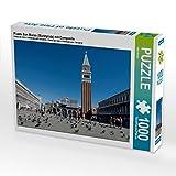 Piazza San Marco (Marktplatz) mit Campanile 1000 Teile Puzzle quer (CALVENDO Orte)