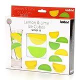 Fishbowl Wiederverwendbare Eiswürfel, Zitrone & Limette, Set mit 12 Stück
