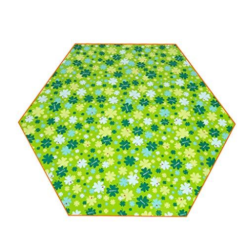 Couverture de Pique-Nique Couverture de Pique-Nique hexagonale extérieure imperméable à l'eau Tapis de Pique-Nique Coussin résistant à l'humidité Tapis de Voyage épaissi Printemps Tapis d'herbe Tapis