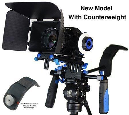 SunSmart-Pro-DSLR-Rig-Movie-Kit-supporto-della-spalla-Rig-con-segue-il-fuoco-e-Matte-Box-per-Tutti-DSLR-e-video-Videocamere
