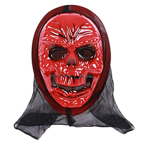 tüm für Erwachsene Kostümzubehör Erwachsene Halloween Horror Gesichtsmaske rot ()
