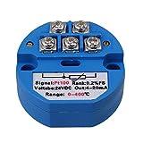 BQLZR RTD PT100 Temperatur Sensoren Messumformer 0 bis 400 Grad DC 24V Blau