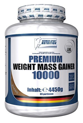 Weight Gainer 10000, 4450g Kohlenhydraten Plus Whey Protein & Creatin & Glutamin (Schoko)