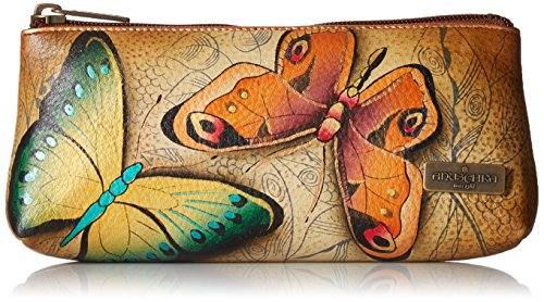 Anuschka - handbemaltes Leder, Damen, Kosmetiktasche Damen, (Earth Song), Einheitsgröße (Handtaschen Leder Anuschka)