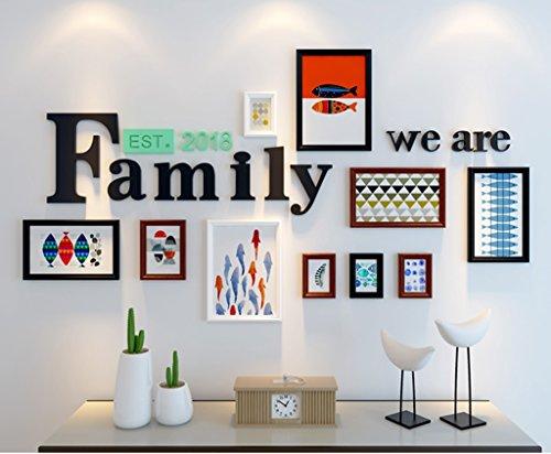 Foto Wandrahmen Fotorahmen 7-Zoll-Bilderrahmen Wand Set, Fotorahmen Wand Set, Haus und Wanddekorationen, Modisches Design ( Farbe : 2# )
