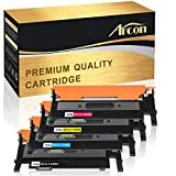 Arcon 4 Toner für Samsung CLP-360 CLP-365W CLX-3300 CLX-3305 FW W, Xpress C410W C460W Kompatibel für Samsung CLT-K406S CLT-C406S CLT-M406S CLT-Y406S - Schwarz 1.500 Seiten, Color je 1.000 Seiten