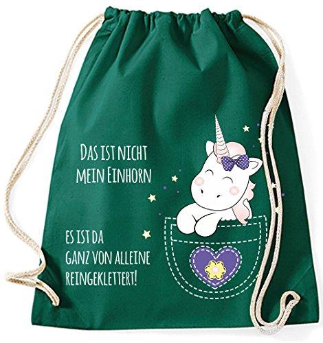 La Mia Borsa Di Iuta Zwerggenland Questo Non È Il Mio Unicorno, 12l, Viola Verde