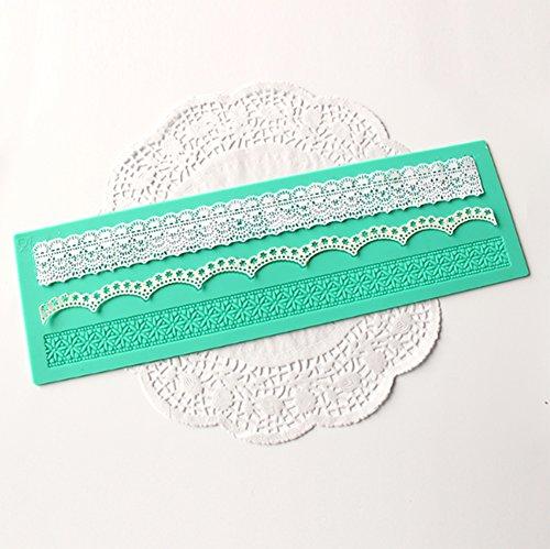 iTemer Decor Silikon-Matte Verzierungen Lace Kuchen Mould Silikonmatte Spitzen-Deko für essbare Spitzen-Deko Präge-Bordüren für von Torten...