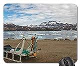 Yanteng Alfombrillas para Juegos, Alfombrillas de ratón, Sled Dog Sled Greenland Summer Arctic Polar 1