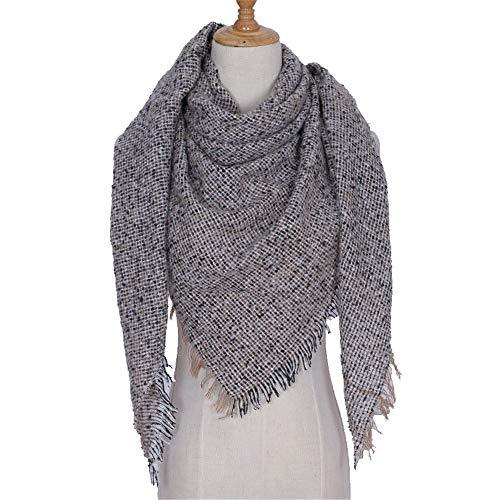 KINMB Echarpes Foulards scarffils Boucle Automne et Hiver Chaud épais Foulards Unisexe Foulards Triangle à Double Usage châle