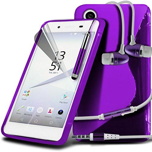 (Clear) Fall für <b>      Apple iPhone 6s hülle     </b>     Fall hochwertiges und haltbares Survivor TPU Clear Gel Case Hülle+ Aluminium Ohrhörer Ohrhörer von i-Tronixs Wave Gel+ Earphones ( Dark Purple )