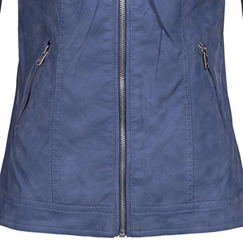 5d6ed957b15d ONLY Damen Jacke Onlsteady Faux Leather Jacket Cc Otw True Navy ...